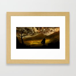 Sunlit Valley  Framed Art Print