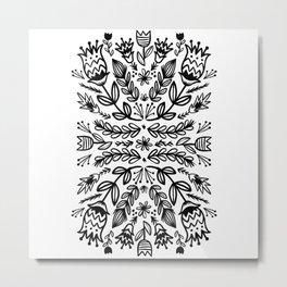 floral repeat 001 Metal Print