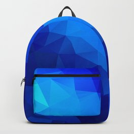 Abstract digital art polygon triangles Backpack