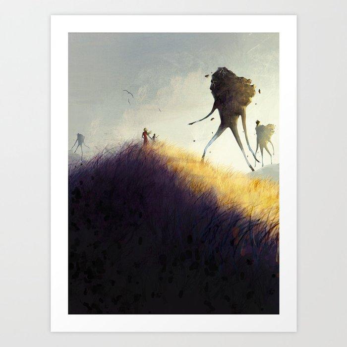 The Earth Giants Art Print