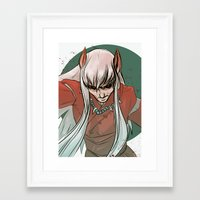 inuyasha Framed Art Prints featuring Inuyasha by LaurenceBaldetti