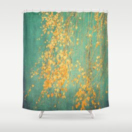 yellow leaves Shower Curtain