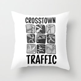 Crosstown Traffic - WH Throw Pillow