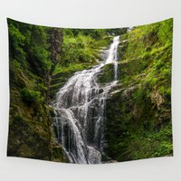 waterfall Wall Tapestries featuring Waterfall by Pati Designs