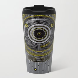 Peace, Love, Panda Metal Travel Mug