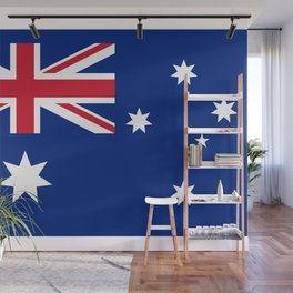 The National flag of Australia, authentic version (color & scale 1:2) Wall Mural