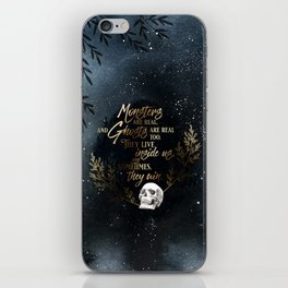 S King - Ghosts & Monsters iPhone Skin