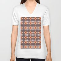navajo V-neck T-shirts featuring Navajo Pattern by Shea Sjoberg