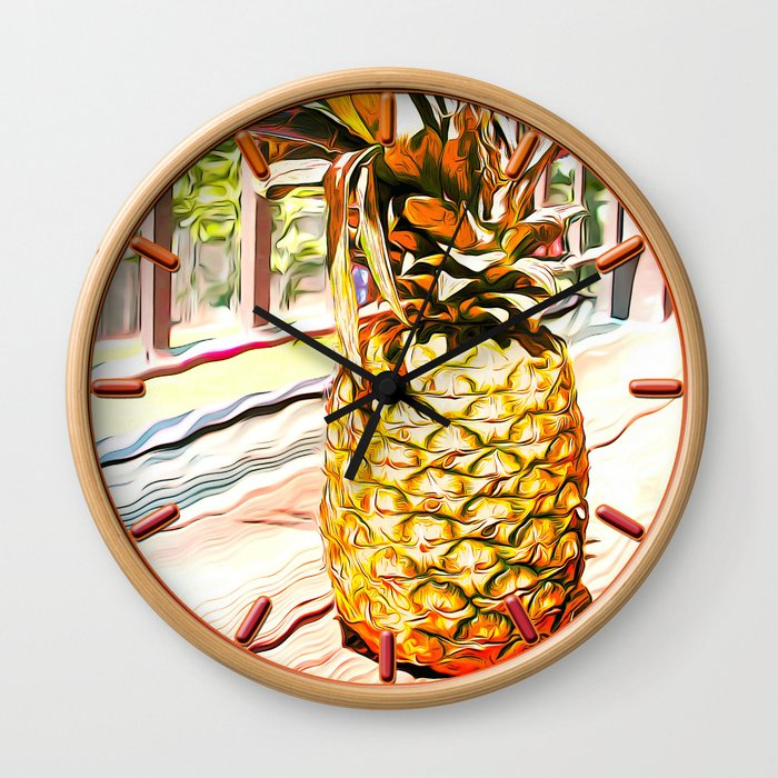 The Pineapple Wall Clock