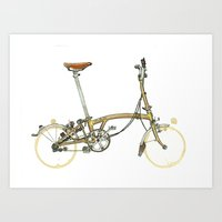 brompton Art Prints featuring Brompton by Zeroack