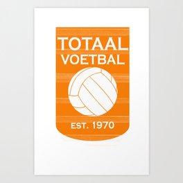 totaal voetbal est. 1970 Art Print