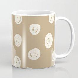 Scribble Spot - Cream & Tan Coffee Mug