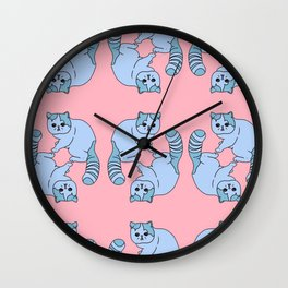 Playful Kittens, 2014. Wall Clock