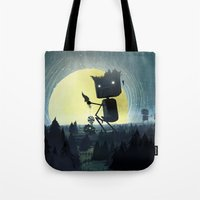 giants Tote Bags featuring Hill Giants by GlennPorterArt
