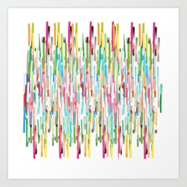 vertical brush strokes  Art Print