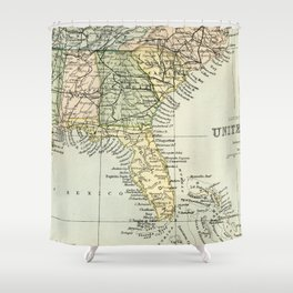 Vintage Map of the South Of The United States Of America Shower Curtain