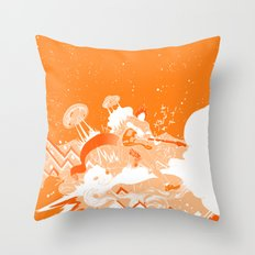 UFO Fighter Throw Pillow