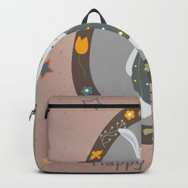 Cute Easter Bunny Backpack