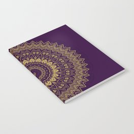 Harmony Circle of Gold on Purple Notebook