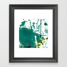 emerald green splash Framed Art Print