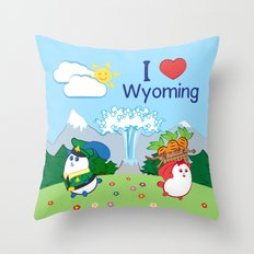 Ernest and Coraline | I love Wyoming Throw Pillow