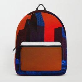 Saturated Houston Skyline Backpack