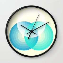 Three colour circles inverted, inspired by Lacouture's Répertoire chromatique Wall Clock