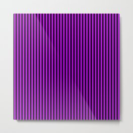 Striped black and purple 2 background Metal Print