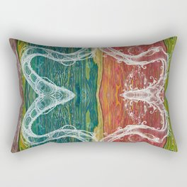 The Mutual Appreciation Paradox (Resistance of Magnetic Entanglement) (Reflection) Rectangular Pillow