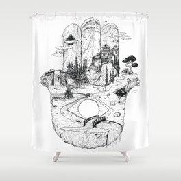 Hamsa in Nature Shower Curtain