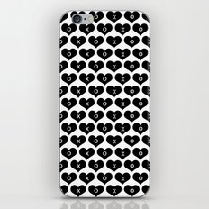 hearts with xo iPhone Skin