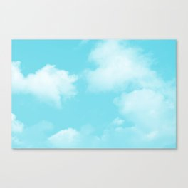 Aqua Blue Clouds Canvas Print