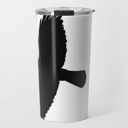 Jackdaw In Flight Silhouette Travel Mug