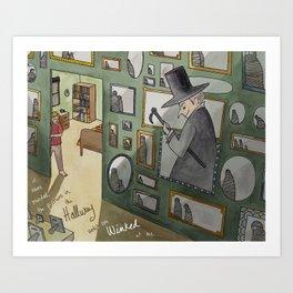 The Winking Walls Art Print