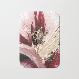 Wasp on flower 7 Bath Mat