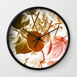 Abstract autumn leaves. Wall Clock