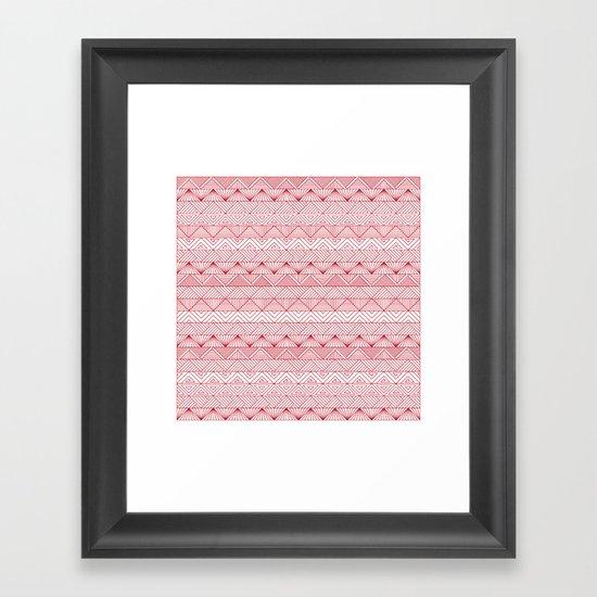 Triangle Trip Framed Art Print