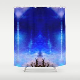 Perseids Shower Curtain