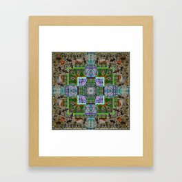 Mielo-Egypto Mandala Framed Art Print