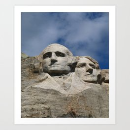 George Washington And Thomas Jefferson  - Mount Rushmore Art Print