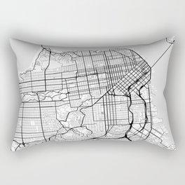 Scandinavian map of San Francisco Penninsula Rectangular Pillow
