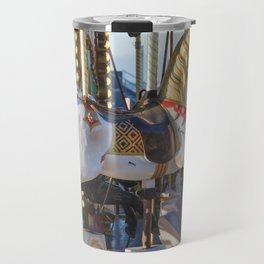 Wooden horse riding Travel Mug
