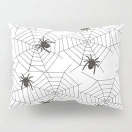 Black Spider Halloween web Pillow Sham