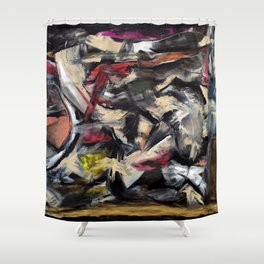 Wildfire (oil on canvas) Shower Curtain