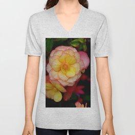 Begonia Flower Unisex V-Neck