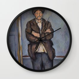 Peasant Standing with Arms Crossed Wall Clock