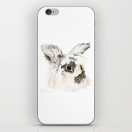 Pixie the Lionhead Rabbit by Teresa Thompson iPhone Skin