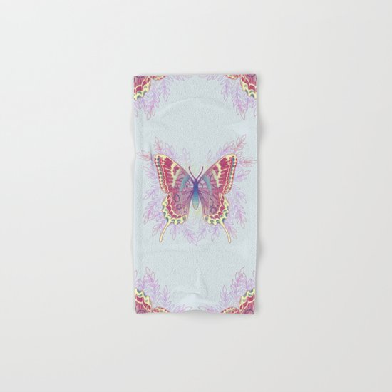 Beautiful Colorful Butterfly Design Hand & Bath Towel
