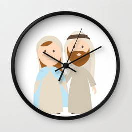 St. Joseph and Virgin Mary Wall Clock