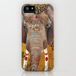 Gilded Elephant of Jaipur iPhone Case